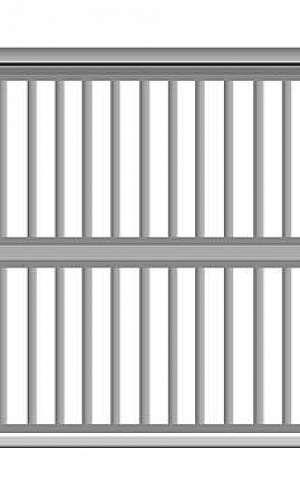 Portão automático basculante alumínio